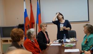 Г.Мамонтова на занятии ЛИТО 2015г.