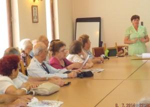Л.Литвинова на встрече с поэтами Варны 2014 г.