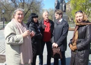 Плевенская делегация в Москве у памятника Кириллу и Мефодию 2014г.
