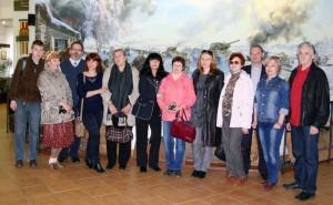 Плевенская делегация в музее Танка Т-34 2014г.