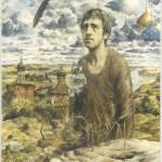 """C. Симаков. """"Владимиру Семёновичу Высоцкому"""", холст, масло. 1981г."""