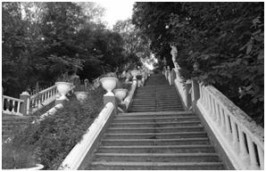 Знаменитая лестница кубинского парка