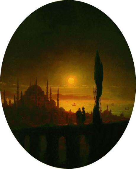 «Лунная ночь у взморья. Константинополь», 1847г.