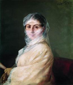 «Портрет жены, А.Н. Бурназян», 1882г.