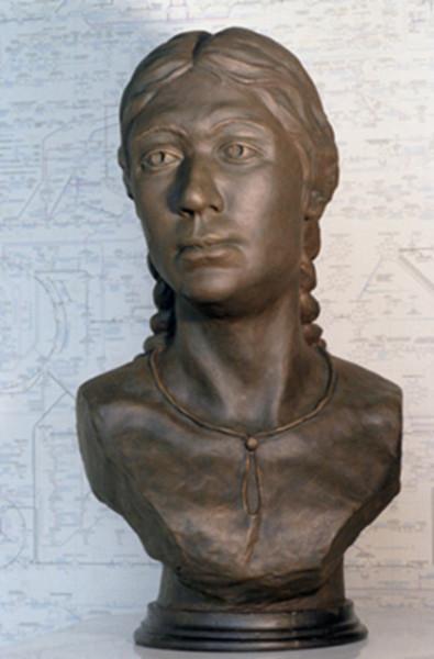 Реконструкция внешнего облика женщины, жившей 2,5 тысячи лет назад, останки которой были найдены во время раскопок на алтайском горном плато Укок
