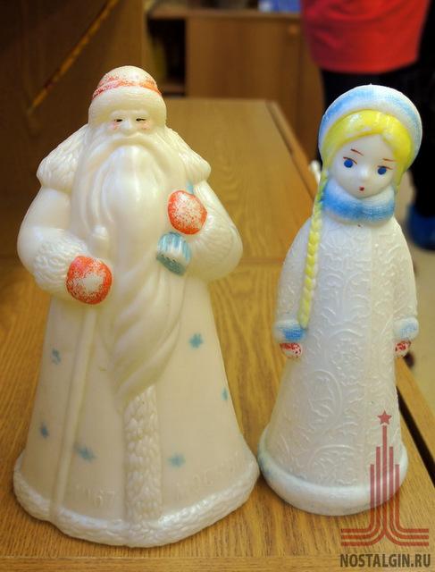 Как сделать новогоднюю игрушку деда мороза и снегурочку
