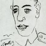 М. Ларионов. Н.С. Гумилёв. Рисунок. 1917 год
