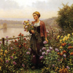 Даниэл Риджуэл Найт. Женщина в саду