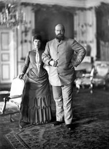 Мария Фёдоровна и Александр III в Дании, 1892