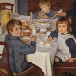 «За завтраком» (портреты детей), 1914
