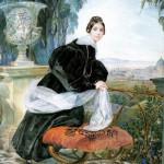 Брюллов К. Портрет Е.П. Салтыковой, 1834 год