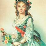 Портрет великой княгини Елизаветы Алексеевны (1779-1826). Неизвестный художник последней четверти XVIII века.1795 год