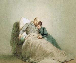 Михай Зичи. Смерть Александра III в Ливадии. 1895