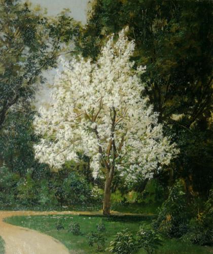 Василий Максимов. «Сад при доме Третьяковых», 1877
