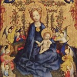 14 век. Дева Мария с младенцем Иисусом среди роз