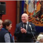 Поздравление генерала В.К. Иванова. Слева Х.Х. Макагонова и В.И. Котляр
