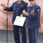 Слева: Генерал-майор Иванов В.К., справа: Дважды Герой Советского Союза, лётчик-космонавт А.А. Леонов