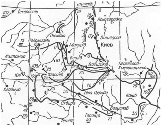 Схема Змеёвых (Трояновых) валов
