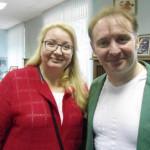 Жуков с давним другом по театру-студии «Химки-74», Оксаной Караваевой
