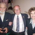С.А. Киселёв, А.Н. Крохин и И.Б. Соловьёва на презентации фильма «Битва за небо»
