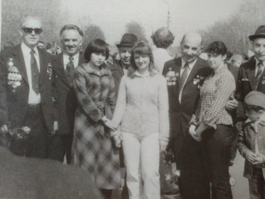 Третья слева - Наташа, дальше Марина Бутузова Г.А. Шадунц и я